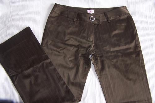 Forum Dukan : pantalon taille 44 chocolat satinee quelques rayures fines plus clair non lime 4