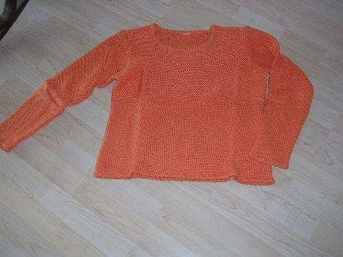 Forum Dukan : pull orange taille 2