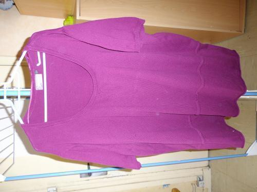 Forum Dukan : pull manches courtes mauve taille 58 60 prix 5 euros