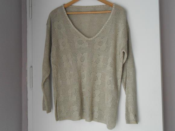Forum Dukan : pull beige ajoure taille 46 48 3 euros