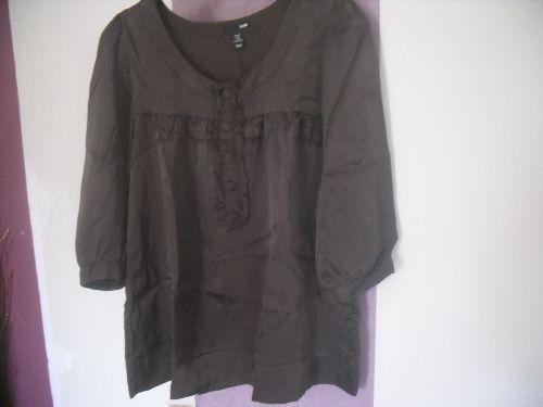 Forum Dukan : blouse aspect satin marron 9 euros