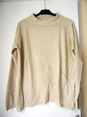 Forum Dukan : pull beige fin a col montant taille l 2 euros