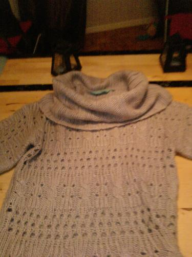 Forum Dukan : n 2 robe pull new look tall taille 42 en crochet tres doux col cheminee 10 euros fdp