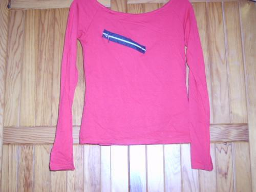 Forum Dukan : t shirt manches longues rouge jennyfer taille l taille m en realite 5 euros
