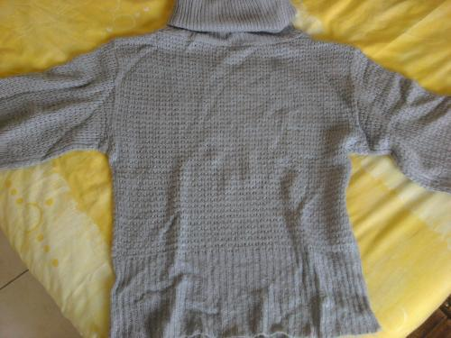 Forum Dukan : pull gris manches courtes col roule 8
