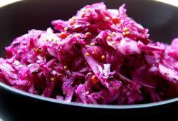 Photo Dukan Coleslaw rose au gingembre (choux rouge)