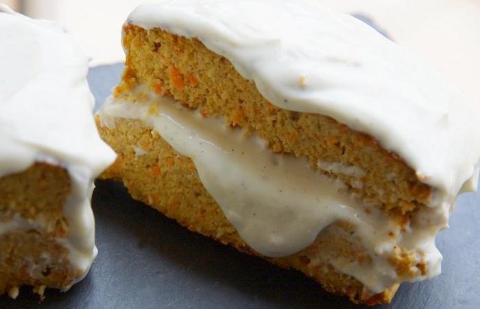 carrot cake au tofu et blanc d 39 oeuf en poudre recette dukan pl par spicy recettes et forum. Black Bedroom Furniture Sets. Home Design Ideas