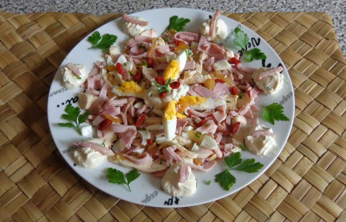 Salade Au Poulet Jambon Sauce Ciboulette Recette Dukan Pp Par