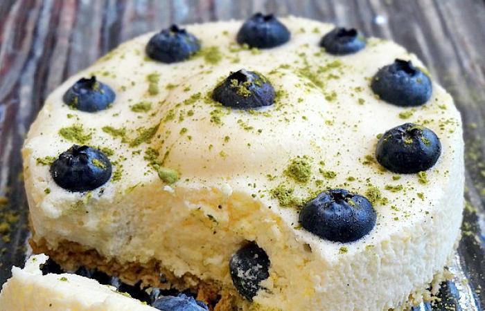 Blueberry Sunshine Entremet Citron Matcha Et Myrtilles Recette
