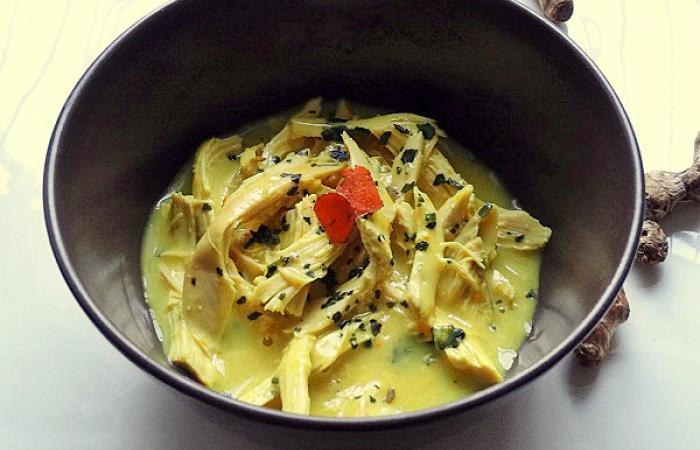 Effiloch e de poulet r ti au curcuma frais recette dukan pp par supertata recettes et forum - Comment cuisiner les brocolis frais ...