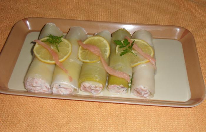 Rouleaux de saumon fumé au pamplemousse