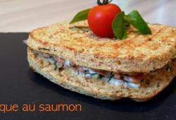 Photo Dukan Croque au saumon fumé