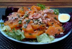 Photo Dukan Salade de courge au saumon