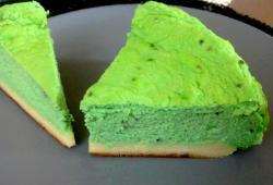 Photo Dukan Cheesecake coco/pandan aux graines de basilic