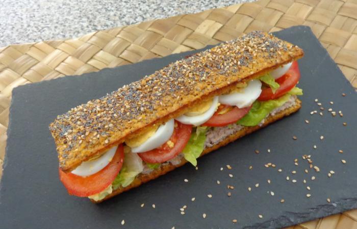 sandwich baguette thon oeuf crudit s recette dukan pl par valerievvv recettes et forum. Black Bedroom Furniture Sets. Home Design Ideas