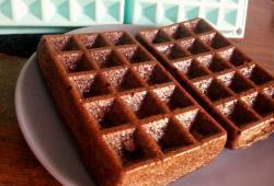 Photo Dukan Superta' gaufre au chocolat !
