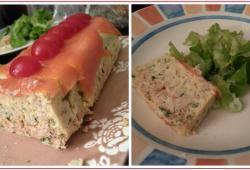 Photo Dukan Terrine bicolore saumon/cabillaud