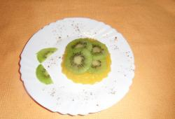 Photo Dukan Carpaccio de kiwi sur gelée de mangue