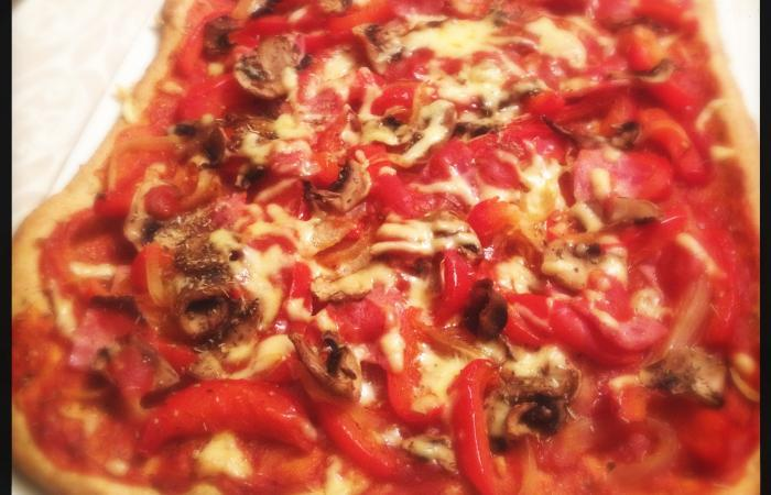 Régime Dukan (recette minceur) : Pizza Peppina #dukan http://www.proteinaute.com/recette-pizza-peppina-11816.html