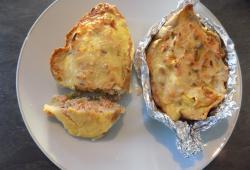 Photo Dukan Quiche au saumon en coquille de pain