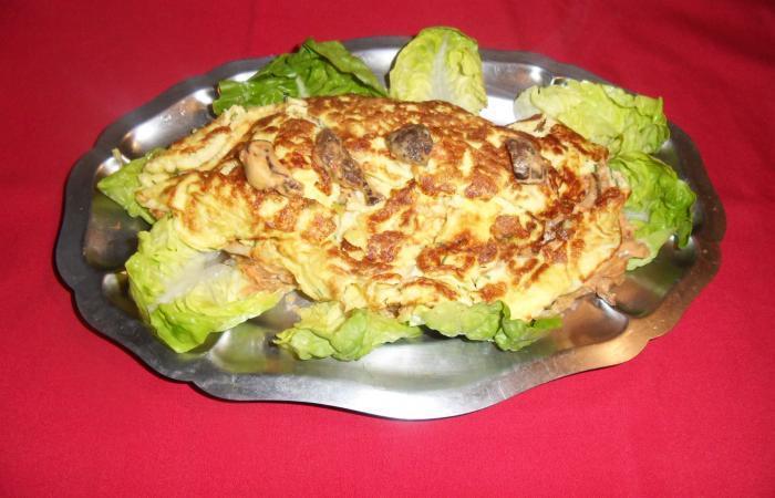 Omelette farcie aux coulemelles, recette Dukan PL par mamie25 ... on