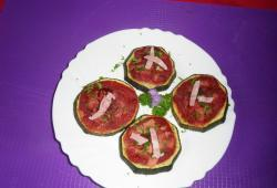 Photo Dukan Pizza au jambon sur base de courgette