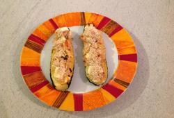 Photo Dukan Courgette farcie au jambon de dinde