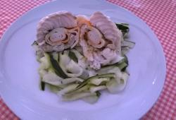 Photo Dukan Cabillaud/Surimi sur lit de courgettes