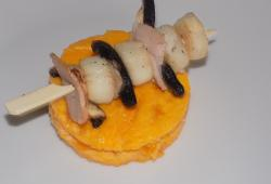 Photo Dukan Brochettes de saint-jacques et flan de courge