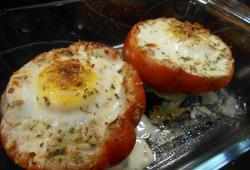Photo Dukan Oeuf cocotte en tomate