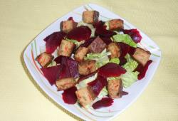 Photo Dukan Salade aux croutons de thon rouge