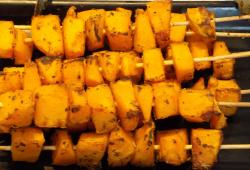 Photo Dukan Brochettes de courge butternut