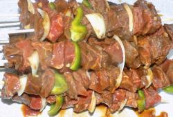 Photo Dukan Brochettes de boeuf sauce barbecue