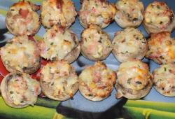 Photo Dukan Champignons farcis jambon fromage