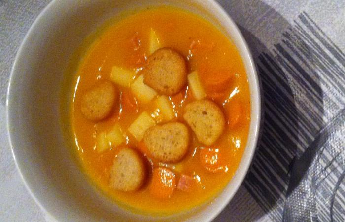 Velout potiron tomates cerises knackis et d s de jambon thermomix recette dukan pl par - Recette thermomix regime ...