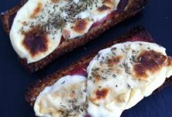 Photo Dukan Tartine mozzarella bacon