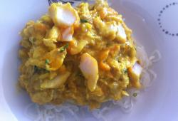 Photo Dukan Haddock poché à la crème de curry