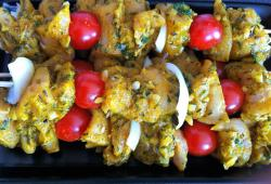 Photo Dukan Brochettes de poulet colombo
