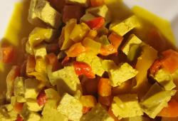 Photo Dukan Tofu au curry et lait de coco