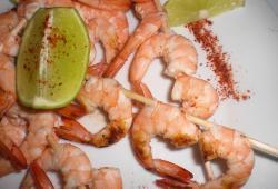Photo Dukan Brochettes de gambas