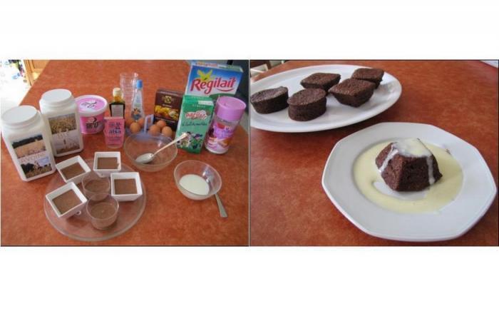 g teaux au chocolat sans ma zena au micro onde napp s de 39 cr me anglaise 39 recette dukan pp. Black Bedroom Furniture Sets. Home Design Ideas