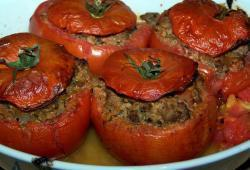 Photo Dukan Tomates farcies au boeuf