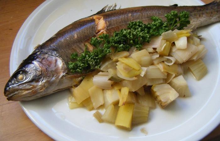 Truite au four sur lit de fenouil et poireau recette dukan pl par starry128 recettes et forum - Cuisiner le fenouil au four ...