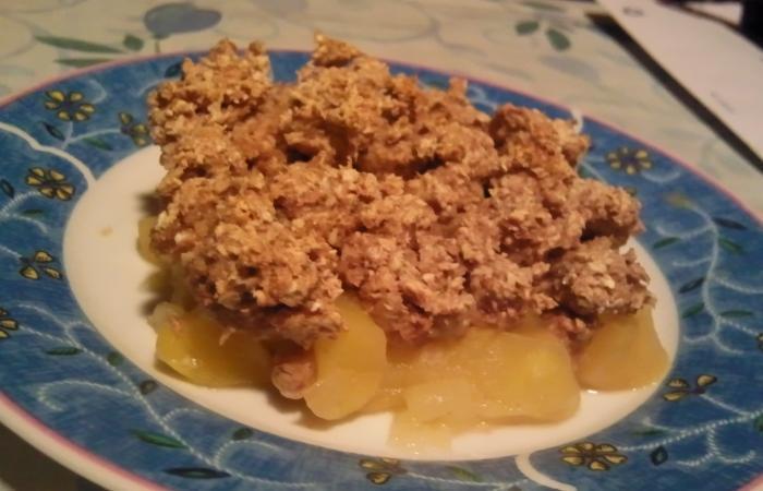 crumble aux pommes recette dukan conso par logique recettes et forum dukan pour le r gime dukan. Black Bedroom Furniture Sets. Home Design Ideas