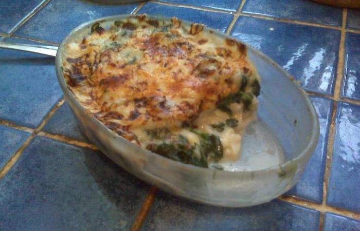 Gratin de colin et d 39 pinards recette dukan pl par - Cuisiner du colin surgele ...