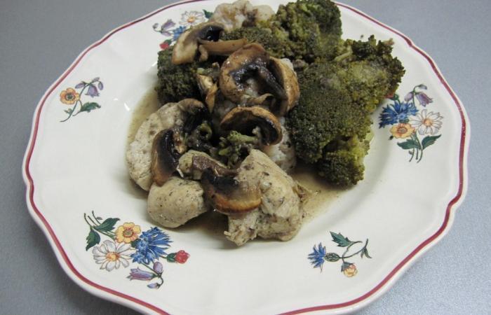 blanc de poulet aux 2 choux fa on blanquette recette dukan pl par chabadamoi recettes et. Black Bedroom Furniture Sets. Home Design Ideas