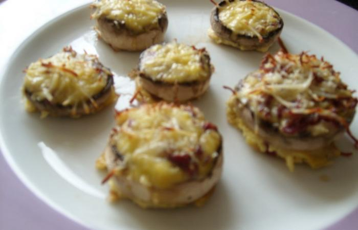 Champignons farcis oignon viande des grisons cancoillote recette dukan pl par - Recette de viande pour le reveillon ...