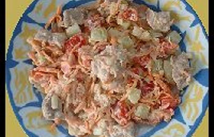 Régime Dukan (recette minceur) : Salade Tahitienne #dukan http://www.proteinaute.com/recette-salade-tahitienne-3582.html