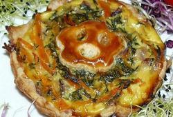Photo Dukan Quiche  au poulet et fanes de carrottes