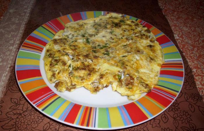 omelette gourmande la viande hach e recette dukan pp par yassia recettes et forum dukan. Black Bedroom Furniture Sets. Home Design Ideas
